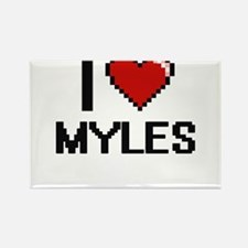 I Love Myles Magnets