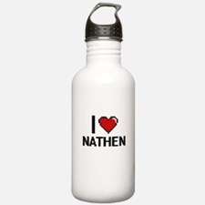 I Love Nathen Water Bottle