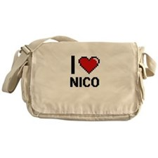 I Love Nico Messenger Bag