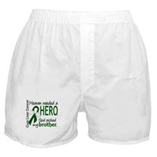 Liver Cancer HeavenNeededHero1 Boxer Shorts