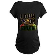 I RUN ON CHILE Maternity T-Shirt
