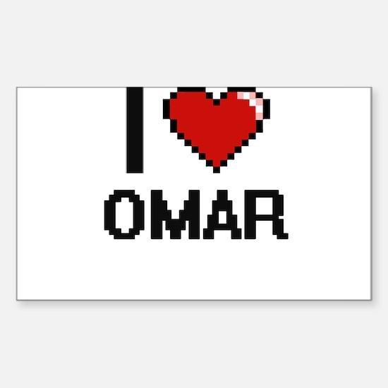 I Love Omar Decal