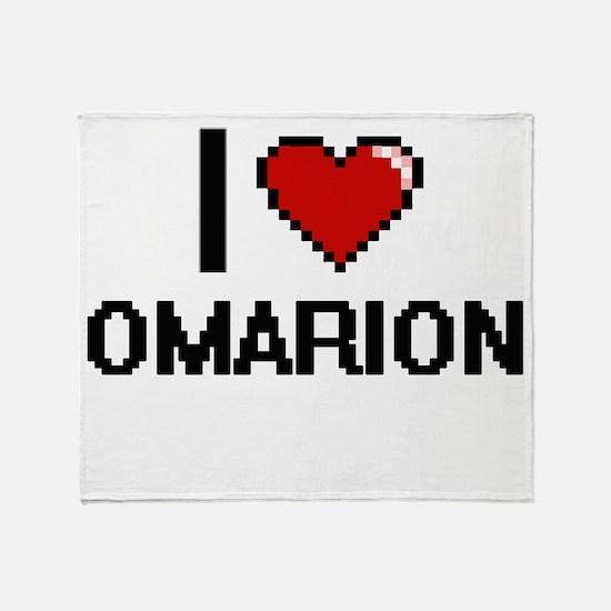 I Love Omarion Throw Blanket