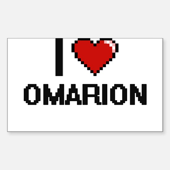 I Love Omarion Decal