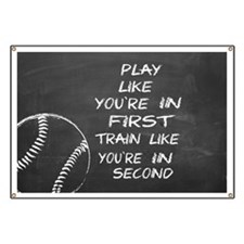 In first baseball motivational Banner