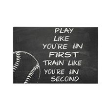 In first baseball motivational Magnets