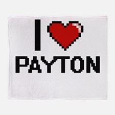 I Love Payton Throw Blanket
