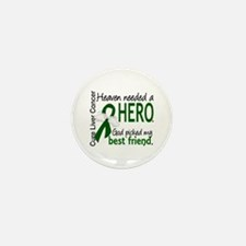 Liver Cancer HeavenNeededHer Mini Button (10 pack)