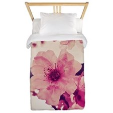 Pink Blossoms Square Twin Duvet