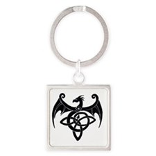 Celtic Dragon Square Keychain