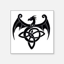 "Celtic Dragon Square Sticker 3"" x 3"""