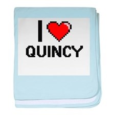 I Love Quincy baby blanket