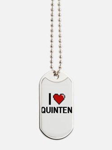 I Love Quinten Dog Tags
