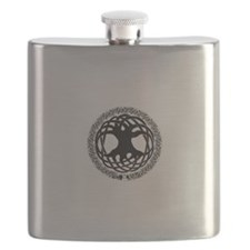 Unique Celtic tree of life Flask