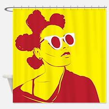 Funky Hairdo Shower Curtain