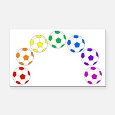 Cute Rainbow soccer ball Rectangle Car Magnet