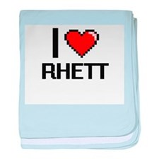 I Love Rhett baby blanket