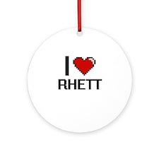 I Love Rhett Ornament (Round)