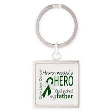 Liver Cancer HeavenNeededHero1 Square Keychain