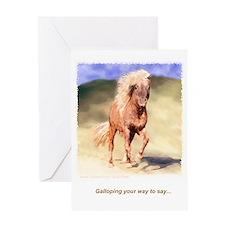 Galloping...Greeting Card -individual w/envel.