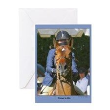 """""""Poised To Win"""" Horse Card-single with envelope"""