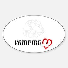 Vampire Love Oval Decal