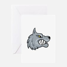WOLF MASCOT Greeting Cards