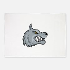 WOLF MASCOT 5'x7'Area Rug