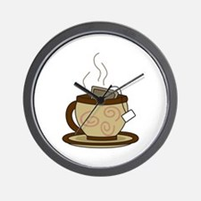 CUP OF HOT TEA Wall Clock