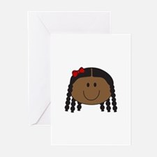 LITTLE GIRL FACE Greeting Cards