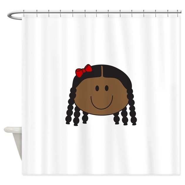 Little Girl Face Shower Curtain By Greatnotions32