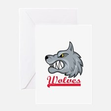 WOLVES TEAM Greeting Cards