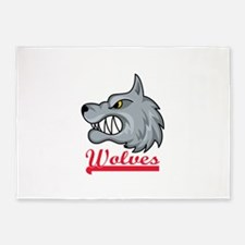 WOLVES TEAM 5'x7'Area Rug