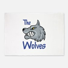 THE WOLVES 5'x7'Area Rug