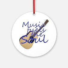 music fuels Round Ornament