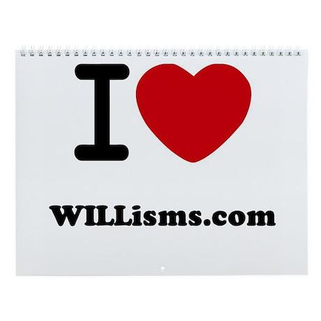 WILLisms.com Wall Calendar