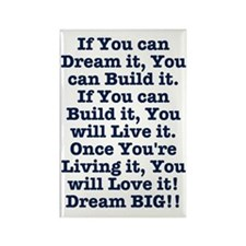 Dream, Build, Live, Love Magnets