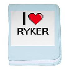 I Love Ryker baby blanket