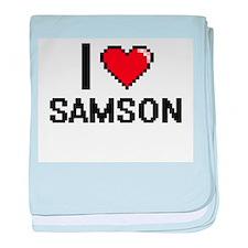 I Love Samson baby blanket