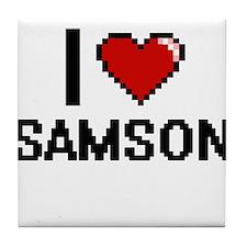I Love Samson Tile Coaster