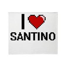 I Love Santino Throw Blanket