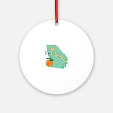 Peach State Ornament (Round)