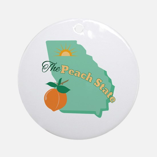 Peach State Ornament (Round)
