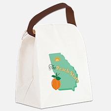 Peach State Canvas Lunch Bag