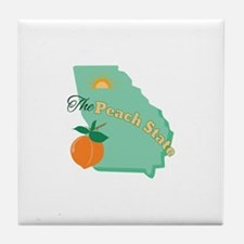 Peach State Tile Coaster