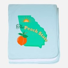 Peach State baby blanket