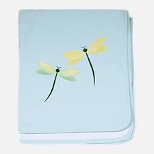 Dragonflies baby blanket