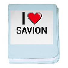 I Love Savion baby blanket