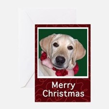 Yellow Lab Puppy Christmas Card