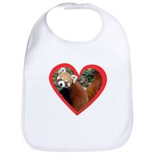 Red Panda Heart Bib